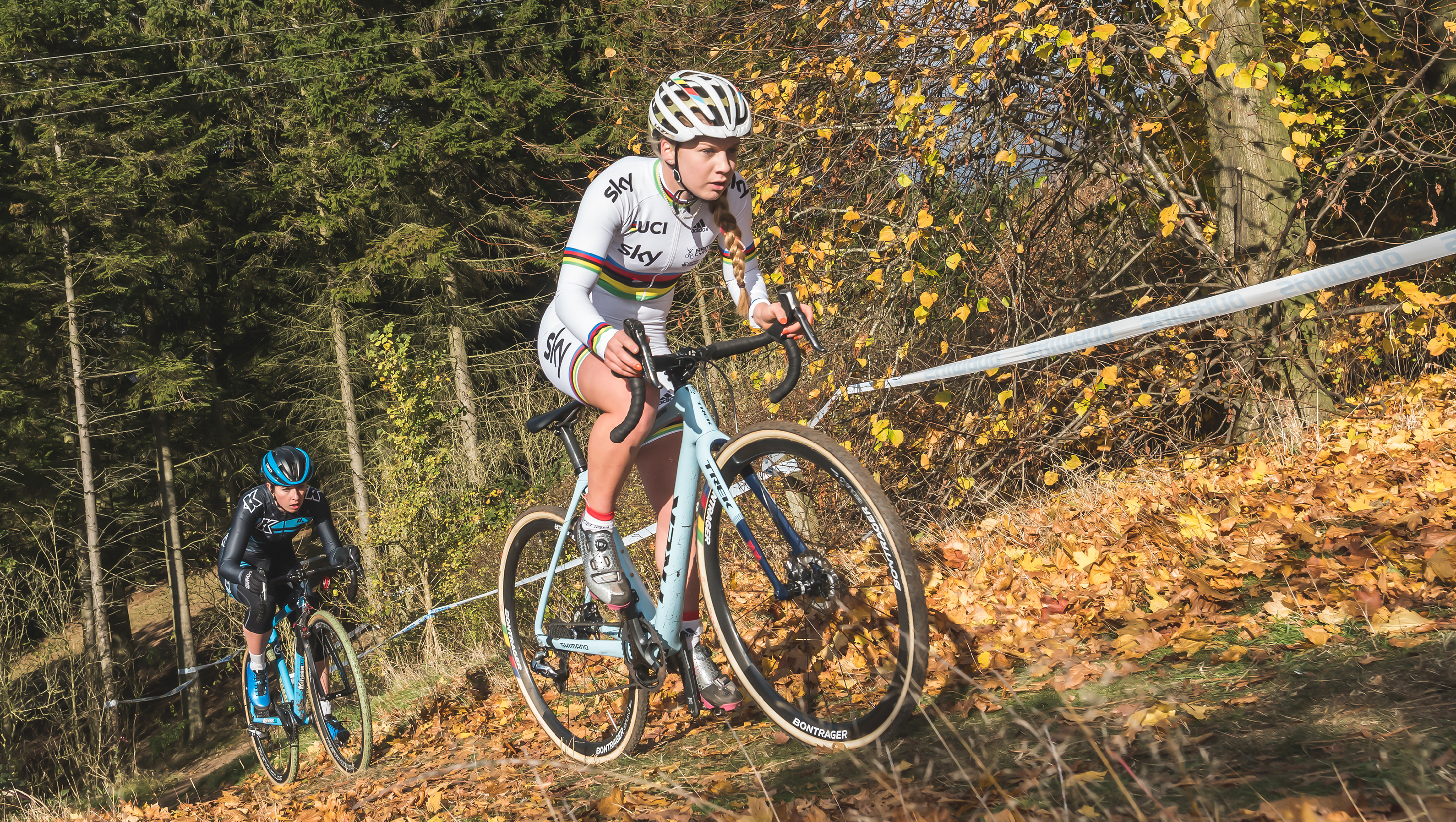 Evie Richards former U23 World CX Champion in action